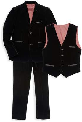 Isaac Mizrahi New York Little Boy's & Boy's Velvet Suit