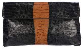 Dries Van Noten Oversized Embossed Leather Clutch