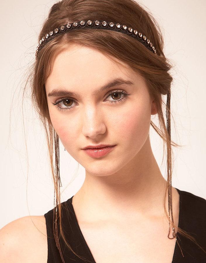Deepa Gurnani Chain Stretch Headband