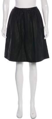 Halston Gathered Knee-Length Skirt w/ Tags