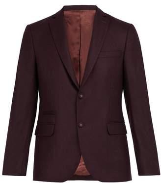 Officine Générale - 375 Single Breasted Wool Blazer - Mens - Burgundy
