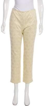 Celine Mid-Rise Brocade Pants