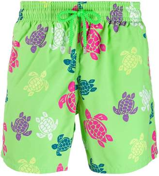 turtle print swim trunks