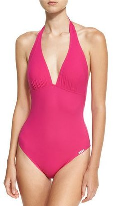 Lise Charmel Saga Keniane Low-Back One-Piece Swimsuit, Pink $244 thestylecure.com