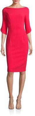 Black Halo Petal Sleeve Dress $345 thestylecure.com