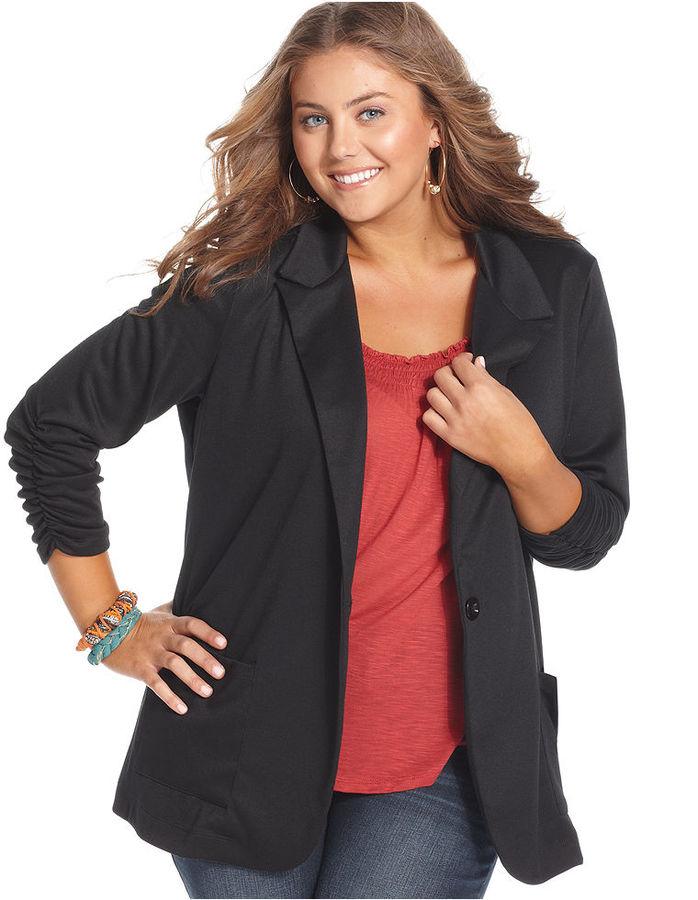 American Rag Plus Size Jacket, One-Button Blazer