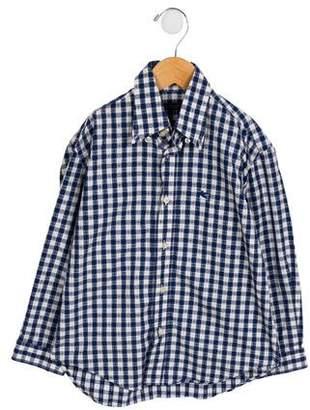 Etro Boys' Check Button-Up Shirt
