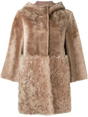 Drome furry hooded coat