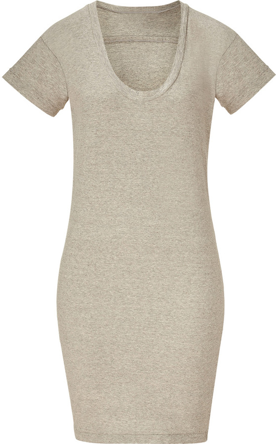 James Perse Heather Grey Relaxed Fit T-Shirt Dress