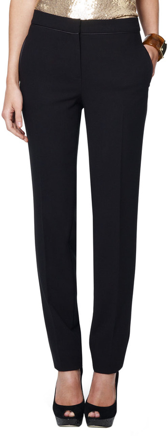 Jones New York Collection Slim Tuxedo Pants