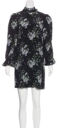 Alexander McQueen Silk Floral Print Dress