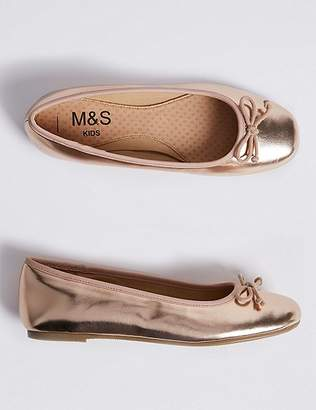 Marks and Spencer Kidsâ Ballerina Shoes (13 Small - 6 Large)