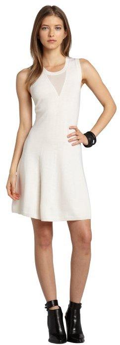 Phillip Lim white wool sleeveless sweater dress