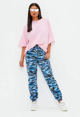 Missguided Blue Camo Trousers