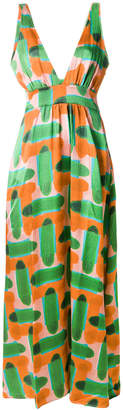 L'Autre Chose abstract pattern maxi dress