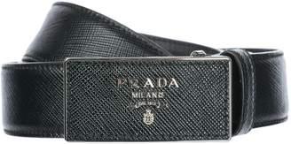 Prada women's genuine leather belt US size 1C5717 053 F0S9C