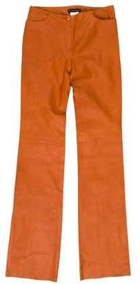 Plein Sud Jeans Wide-leg Leather Pants