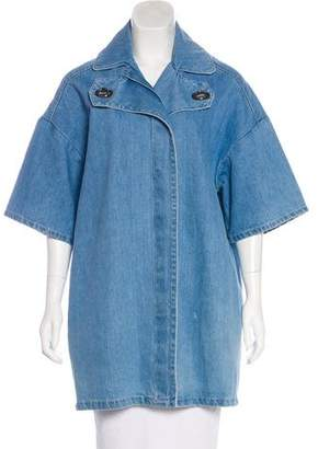 Kenzo Oversize Short Sleeve Denim Coat