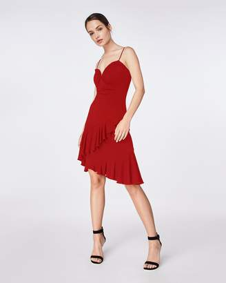 Nicole Miller Jersey Ruffle Dress
