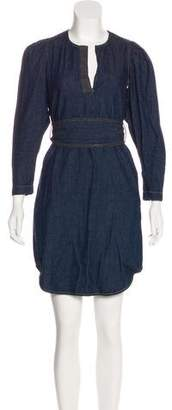 Rebecca Taylor Long Sleeve Denim Dress
