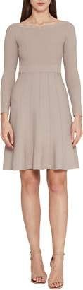 Reiss Astra Textured Skater Dress