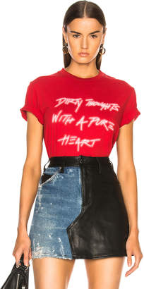 Amiri Dirty Thoughts Tee in Red & White | FWRD