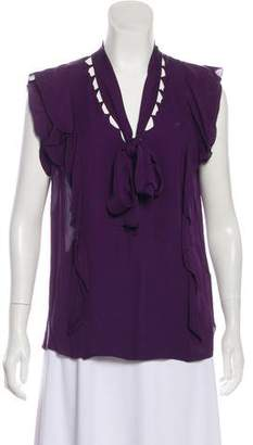 3.1 Phillip Lim Silk Cutout Blouse