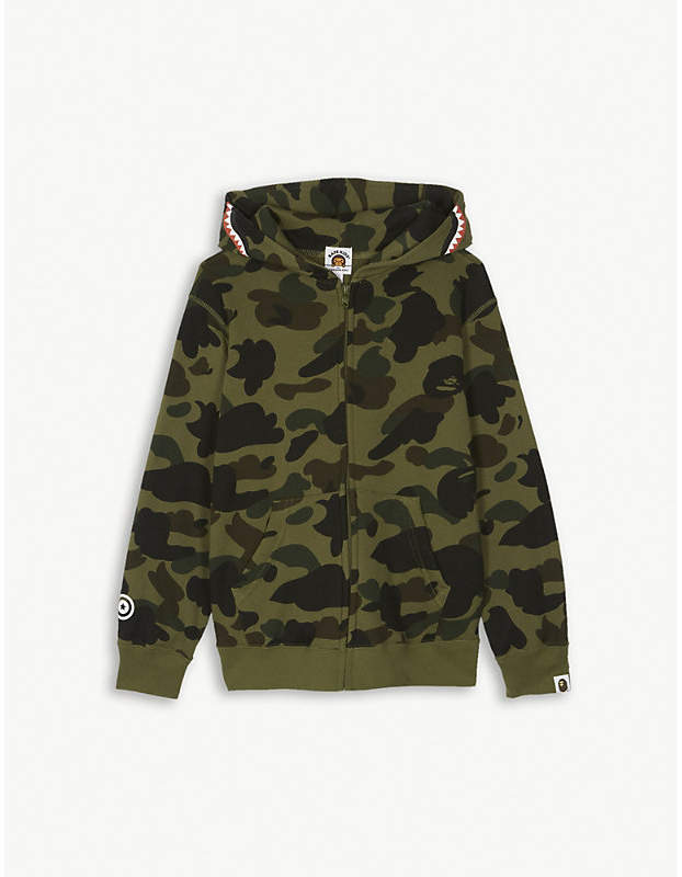 Camouflage shark cotton hoody 4-8 years
