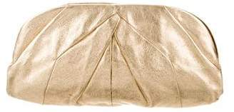 Miu Miu Oversize Pleated Leather Clutch
