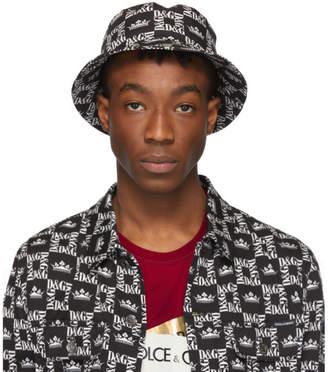 Dolce & Gabbana Black and White Crown Hat