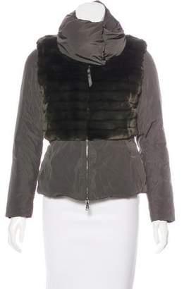 Emporio Armani Mock Neck Zip-Up Jacket w/ Tags