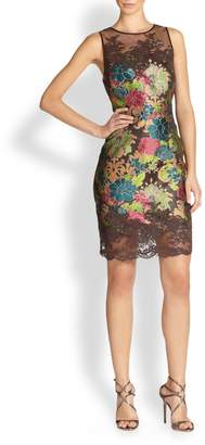 Kay Unger Brown Brocade Dress