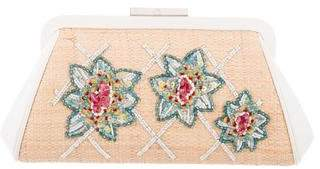 Tiffany & Co. Embroidered Straw Clutch