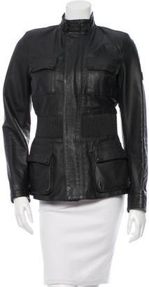 Belstaff Leather Mock Neck Jacket $345 thestylecure.com