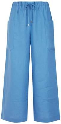 Max Mara Wide Leg Linen Trousers