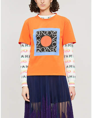 Kenzo Square logo cotton-jersey T-shirt