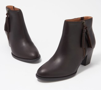 Vionic Leather Tassel Ankle Boots - Madeline
