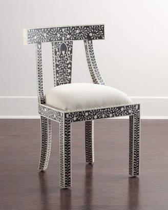 Femi Bone-Inlay Accent Chair