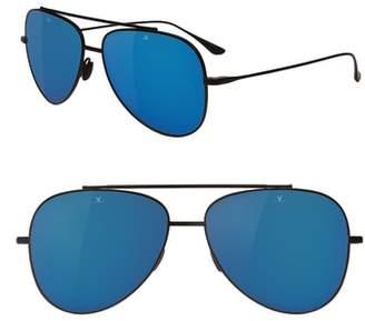 Vuarnet Swing 58mm Polarized Aviator Sunglasses