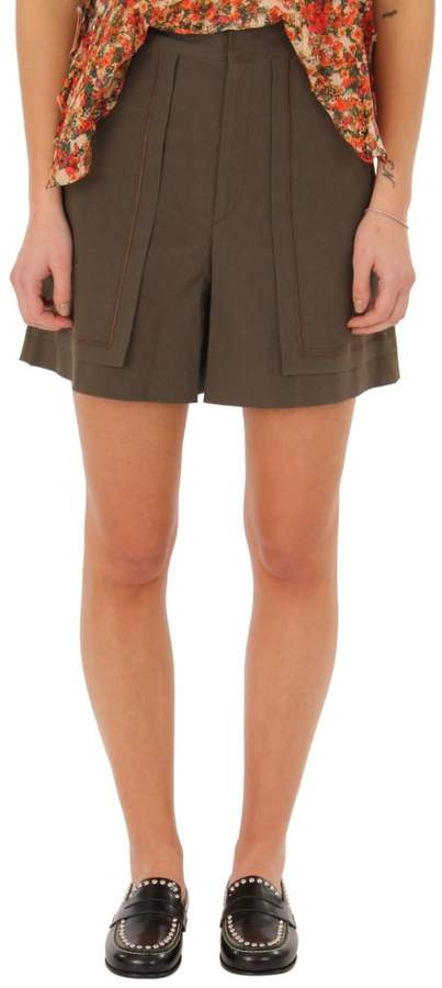 Lucky Bronze High-waist Shorts