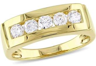 Miabella 1-1/2 Carat T.G.W. Cubic Zirconia Yellow-Plated Sterling Silver Men's Ring