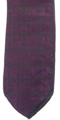Chanel Silk Jacquard Tie plum Silk Jacquard Tie