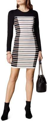 Karen Millen Striped Body-Con Dress