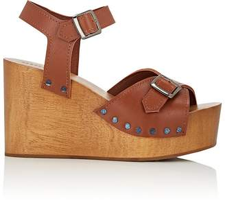 Barneys New York Women's Leather Wedge Sandals