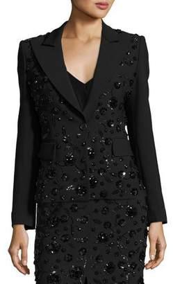 Michael Kors Sequined-Floral Dinner Jacket, Black $4,995 thestylecure.com