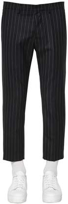 Ami Alexandre Mattiussi Carrot Fit Virgin Wool Pinstripe Pants