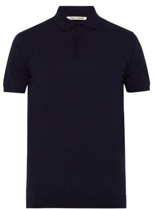 Privee Salle Salle Eliel Cotton Jersey Polo T Shirt - Mens - Navy