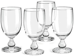 Dansk Set of 4 Hanna Iced Goblets - Clear