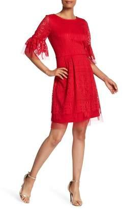 Sandra Darren Crochet Lace Dress