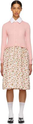 Comme des Garcons Pink Combo Floral Dress